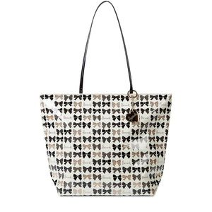 HARRODS Glitter Bow Tote Bag